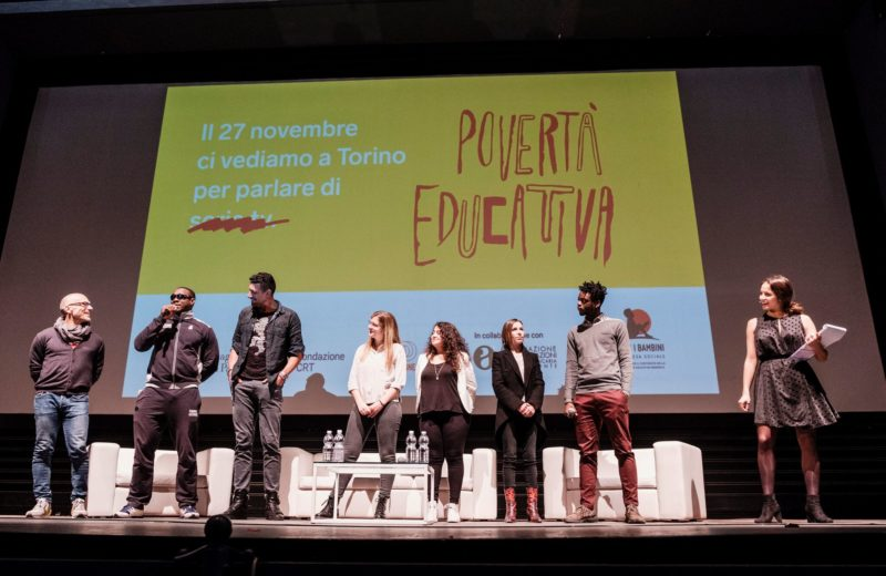 Il palco dell'evento di Torino, foto di Andrea Guermani