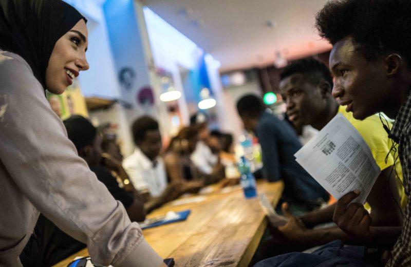"""Palermo, incontro tra associazioni e migranti. Foto di studio14photo per CIAI, ente capofila del progetto """"Ragazzi Harraga. Processi di inclusione sociale per minori migranti non accompagnati nella città di Palermo"""""""
