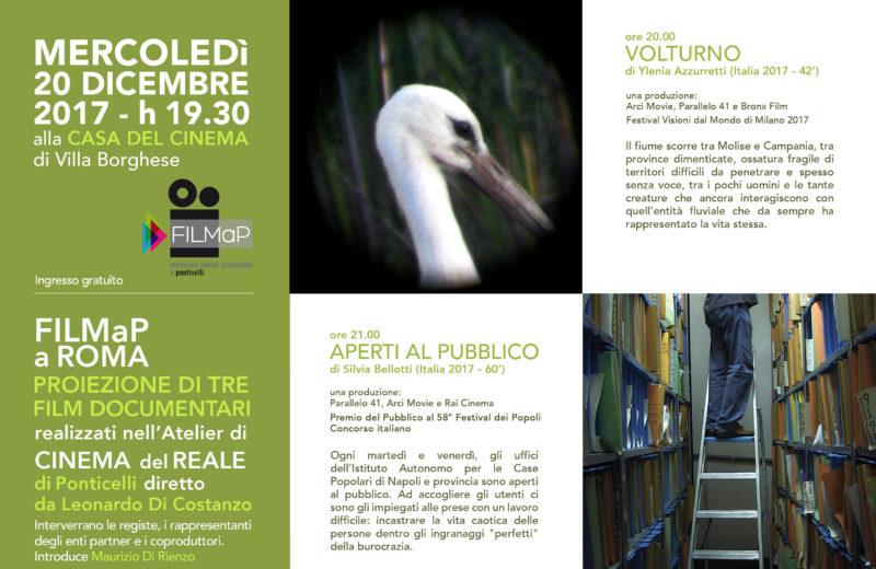 Filmap a Roma, locandina evento