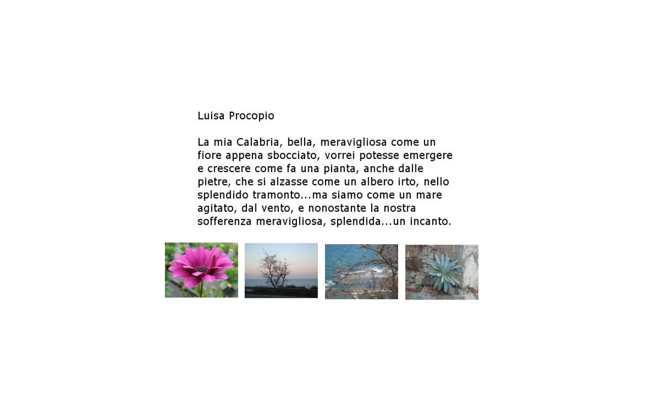 Luisa Procopio, Calabria