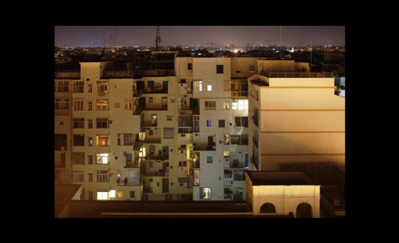 Panorama notturno, condomini, Bari, Giuseppe Potenza