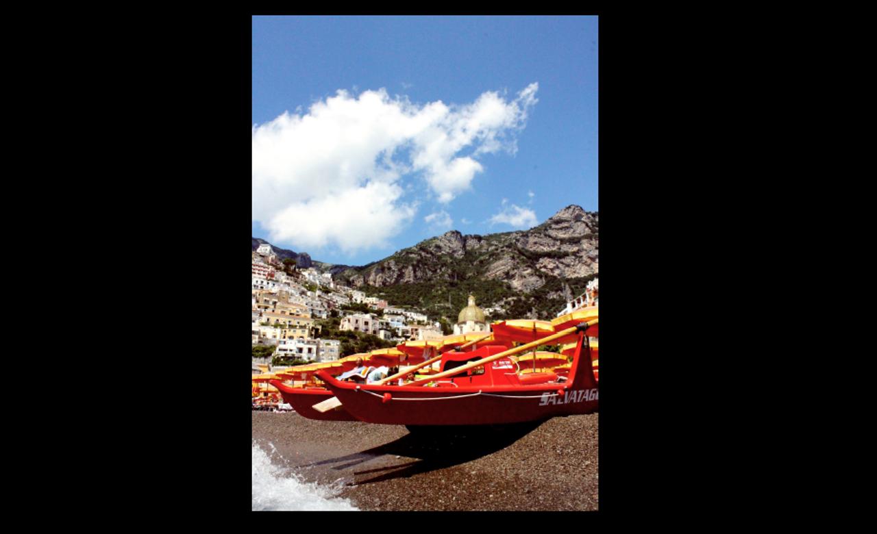 Positano beach, Ugo Fraccaro