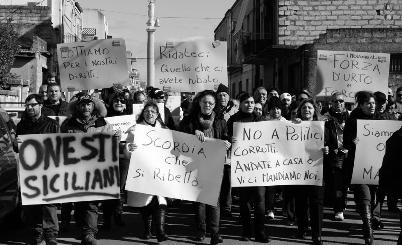 Salvina Favara, Manifestazione dei Forconi, Scordia (CT)