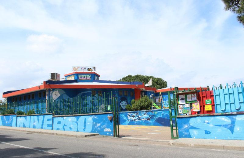 L'esterno del centro Exmé, Cagliari