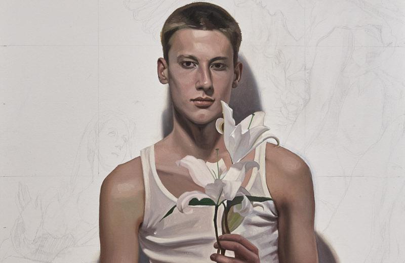Gonzalo Orquín, El greco, 90 x 70 cm, Olio su tela 2018, particolare