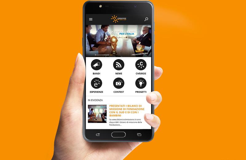 CON IL SUD, l'app ufficiale della Fondazione CON IL SUD