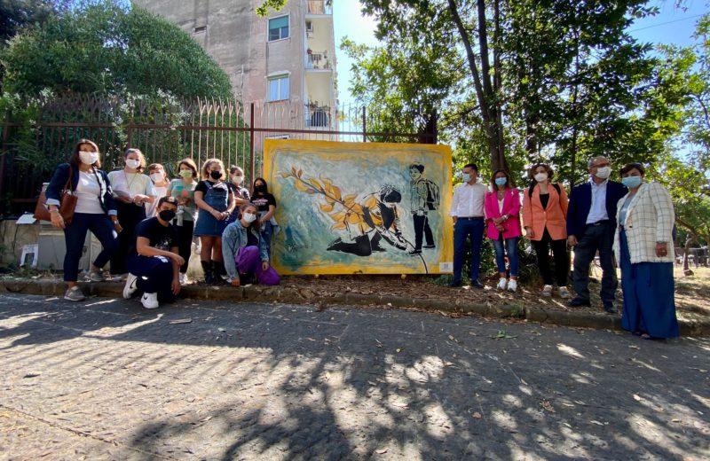 Il murale inaugurato a Portici
